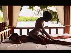 Mutual Massage Between Two Black Girls