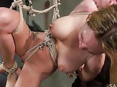 tied hanged and used like a piece of meat