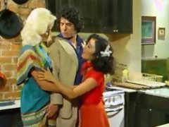Vintage Threesome In The Kitchen