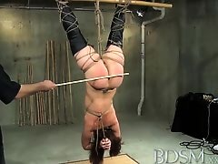 BDSM XXX Young sub is suspended and learns from an old hand