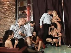 a sexy stripper show @ 5 incredible orgies