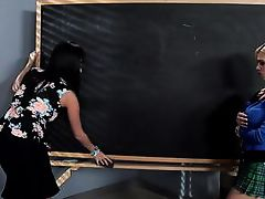 horny students and teacher fuck in the classroom