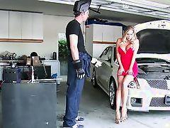 she has a crush on the mechanic