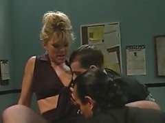 Pantyhose milf fucked by 2 guys