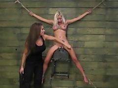 FetishNetwork Marsha May lezdom bondage with Kylie Rogue