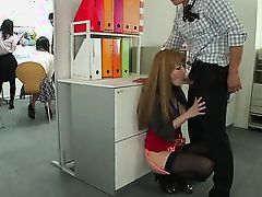 japanese slut is fingered in the office