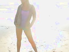 lena's day at the beach ends with nudity