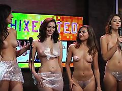beautiful hotties play a game on the morning show @ season 15 ep. 721