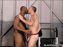 Aaron Jacobs Gets Fucked By His Black Trainer