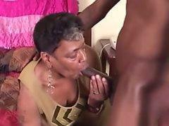 Ebony granny takes BBC