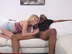 Hailey Reed fucking and sucking on a massive black cock!