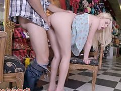 European babe footworshiped