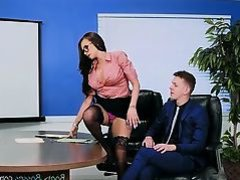 Hot Secretary Raven Bay Enjoys Anal Dicking
