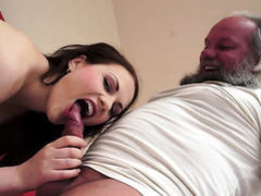 Brunette is good at fucking and