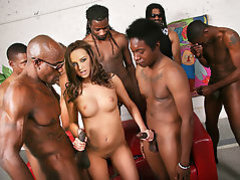 Pressley Carter Does Gangbang With Black Cocks