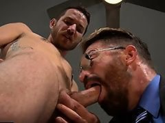 Hot jock fetish with facial