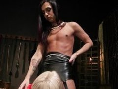 watch out for this mean and controlling shemale dominatrix