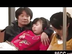 daughter fucked by geek uncle in train