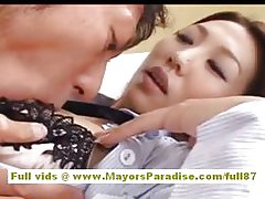 Shiori Tsukimi japanese office worker gets pussy licked