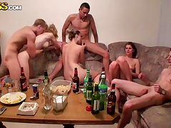 college gangbang on a very crowded couch