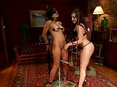 lezzy domination with two delicious milfs