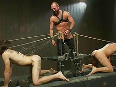 two guys are taking severe punishments