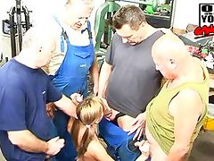 amateur blond amateur gangbanged by old dudes
