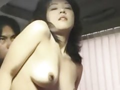 Hirsute chinese model having holes toyed