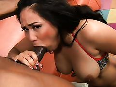 big arse oriental sucking on a bbc