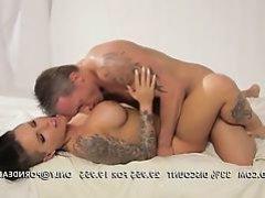 Unblemished brunette tattooed babe Christy Mack banged