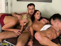 Lascivious babes are enjoying polygamy their