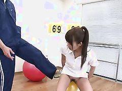 pretty eastern schoolgirl experiencing a dildo.