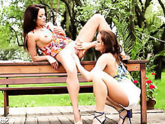 Silvia Saint gets her honeypot fingered by Stacy